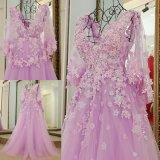 3D Flowers Bridal Ball Gowns Cap Sleeves Party Prom Evening Dresses Z3007