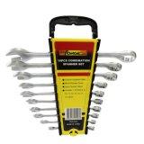 10PCS Cr-V Steel Matte Finished Combination Wrench Set Spanner Set