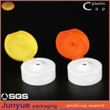 Plastic Double Color Flip Top Cap for Cosmetic Packaging Soft Tube or Bottles