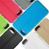 Newest Tough Two Line Design Leather Pattern Finish TPU Durable Cell Phone Case Back Cover for iPhone 7
