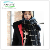 New Design Lady Jacquard Multifunctional Stripe Stretch Knitted Scarf