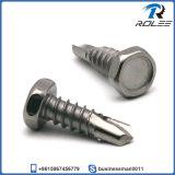 304/316/410 Stainless Steel Indented Hex Head Self Drilling Tek Screw