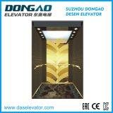 Mrl Passenger Elevator with Tatinum Etching Stainless Steel