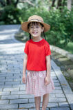 100% Cotton Hollowed-out Girls T-Shirt for Summer