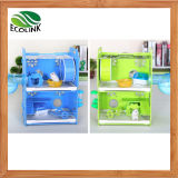 Happy Pet Strong Enough Eco Board Small Animals Double Cage with Decoration Small Animal Habitat for Gerbil Hamsters