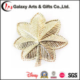 Gold Plating Metal 3D Tree Leaf Shap Badge as Gifts