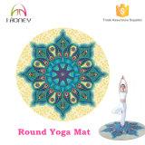Round Yoga Mat Mandala Design with Carry Bag