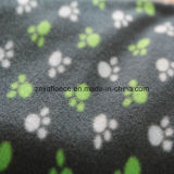 100% Polyester Polar Fleece with Paw Print