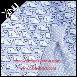 16mm Twill Custom Whale Screen Print Italian 100% Silk Fabric for Tie