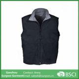 Men's Black Fleece Lined Cotton Duck Work Vest