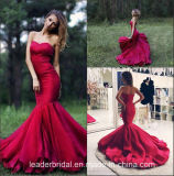 Wine Party Prom Gown Photograp Mermaid Evening Dress P14694