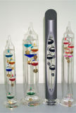 Glass Galileo Thermometer with Different Color Balls