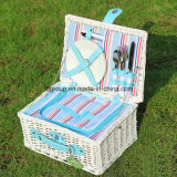 Customized Fashionable Eco-Friendly Woven Wicker Camping Basket Picnic Basket