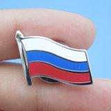 Imitation Hard Enamel Russian Flag Badge