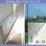 8mm 10mm 12mm 15mm 19mm Flat Clear Tempered Glass Railing