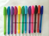 Plastic Stick Ball Pen for Back to School Stationery Supply