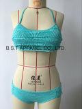 Sexy Crochet Flounce Two-Piece Bikini (QG-623W)