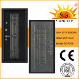Top Quality Armored Security MDF Door with Veneered (SC-A209)
