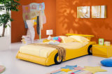 The Most Popular Modern Children Yellow Racing Car Bed (HC006)