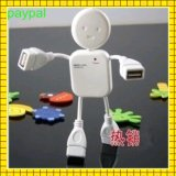 White Doll Design 4 Port USB Hub (gc-h002)