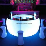 Light up LED Modern Bar Furniture/Colorful LED Plastic Bar Table/Bar Counter (Dia260xH126cm)