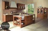Dark Wood Color Solid Wood Home Furniture Kitchen Cupboard (zq-030)