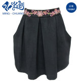 Fashion Ladies Black Skirt with Pockets