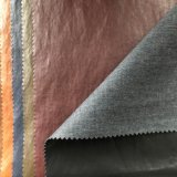Excellent Garments PU Synthetic Leather Fabric Suede Back for Jacket