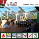 Transparent Beach Marquee Tent with Tables and Chairs