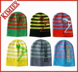 100% Acrylic Fashion Knitted Printed Slouchy Beanie Cap