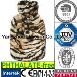 CE Animal Leopard Faux Plush Fur Cover Hot Water Bottle