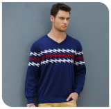 Men′s 100% Cashmere V Neck Pullover Sweater China Factory