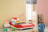 Popular Modern Cute Bird Children Leather & Fabric Bed (HC009)