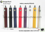 E Cigarette Adjustable Volt Battery, Evod Twist EGO Thread Battery