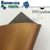Eco-Friendly PVC Leather for Waist Bag with Knitting Backing