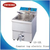 Stainless Steel Counter Top General Mini Kitchen Electric Fryer Ls-12L