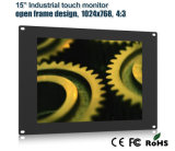 """15"""" Open Frame Industrial LCD Monitor with Touch Screen"""