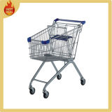 Herringbone 4 Wheels Steel Mall Shopping Trolley