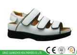 Black/White Health Shoes Diabetic Women Shoes for Flat Feet