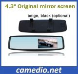 Universal Car Rearview Mirror Monitor with 4.3 Inch HD LCD Screen with 2 Way AV Input