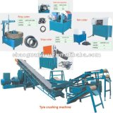 Russia Hot Sale Semi-Auto Waste Tyre Recycling Line