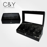 8+9 Black Piano Lacquer Wood Automatic Watch Winder