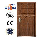 Popular Color Security Steel MDF Veneer Wood Armored Door (W-A-10)