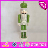2015 Lowest Price Wood Nutcracker Toy, Christmas Decorative Wooden Nutcracker Children Toy, Wooden Nutcracker Soldier Toy W02A070