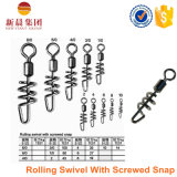 Nickel Color Rolling Swivel with Screwed Snap