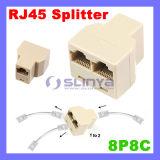 8p8c RJ45 Coupler Network Ethernet Splitter RJ45 Connector Coupler
