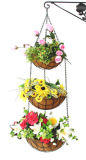 3 Tier Hanging Basket With Liner (20630)