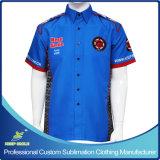Custom Full Sublimation Premium Men′s Pit Crew Racing Shirt
