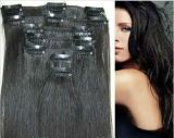 Virgin Human Hair Clip in Hair Extensions