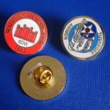 Custom Metal Coin Enamel Badge by Gold Plated (GZHY-SE-024)